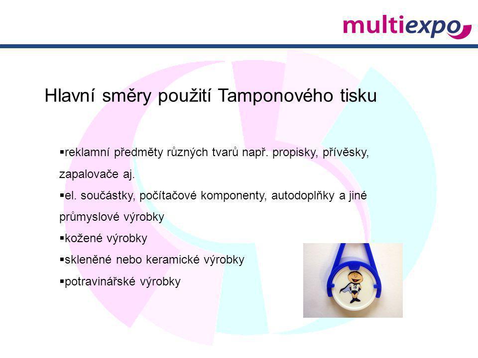 Hlavní směry použití Tamponového tisku