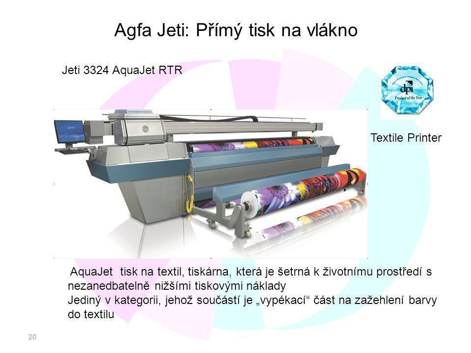Agfa Jeti: Přímý tisk na vlákno