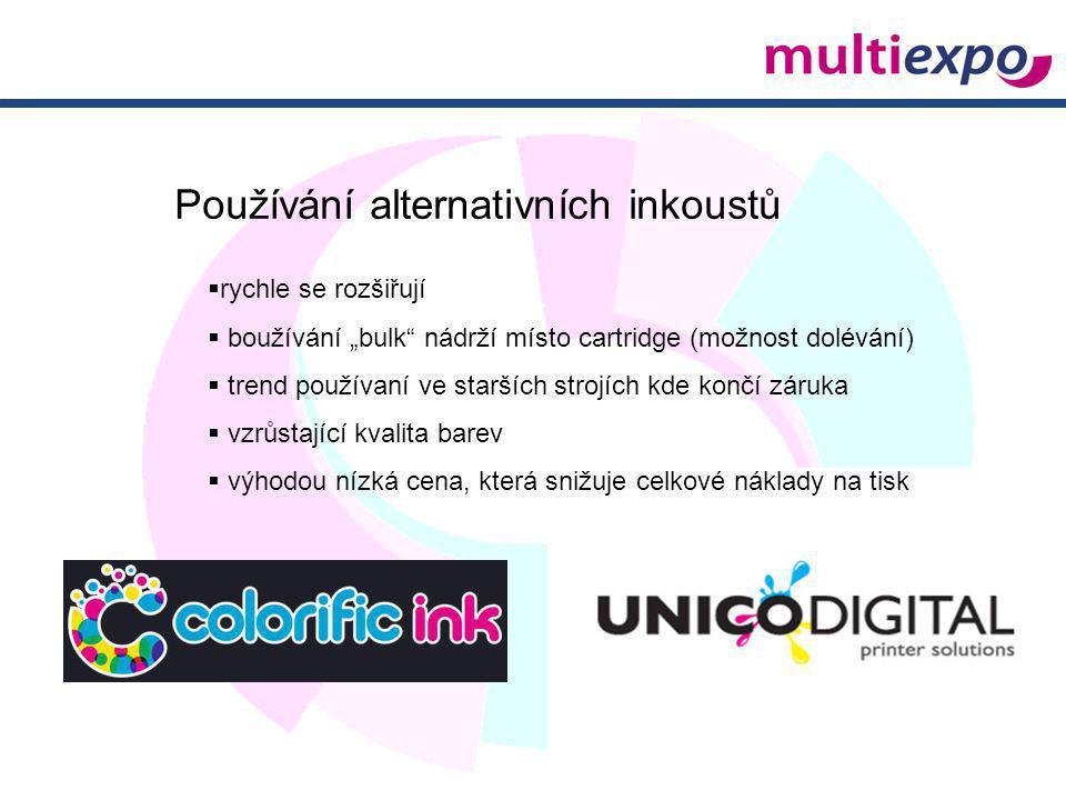 Používání alternativních inkoustů