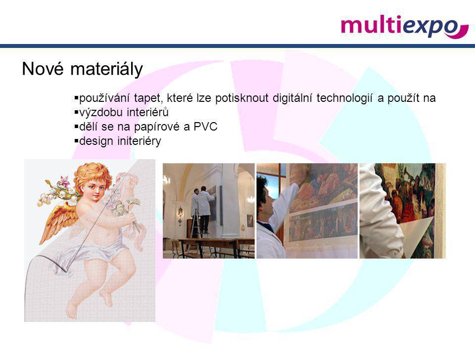 Nové materiály používání tapet, které lze potisknout digitální technologií a použít na. výzdobu interiérů.