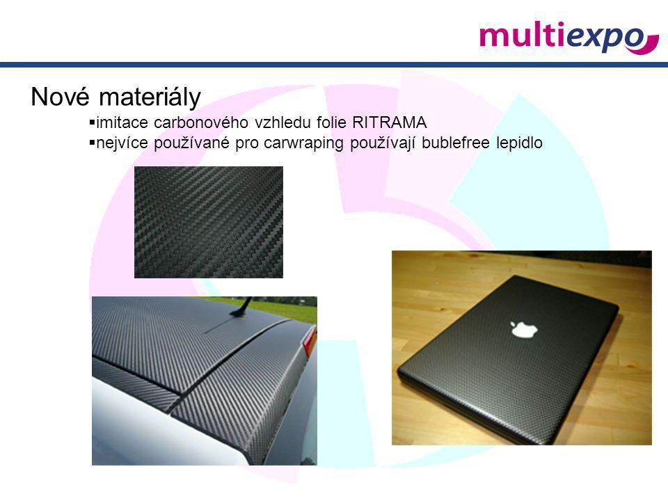 Nové materiály imitace carbonového vzhledu folie RITRAMA