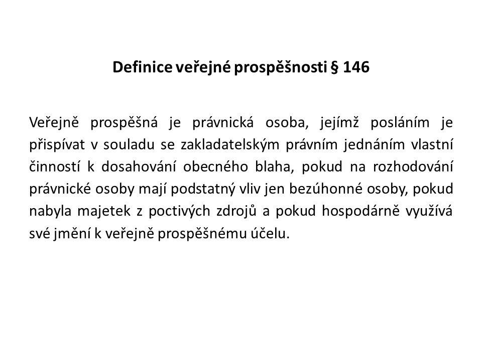 Definice veřejné prospěšnosti § 146