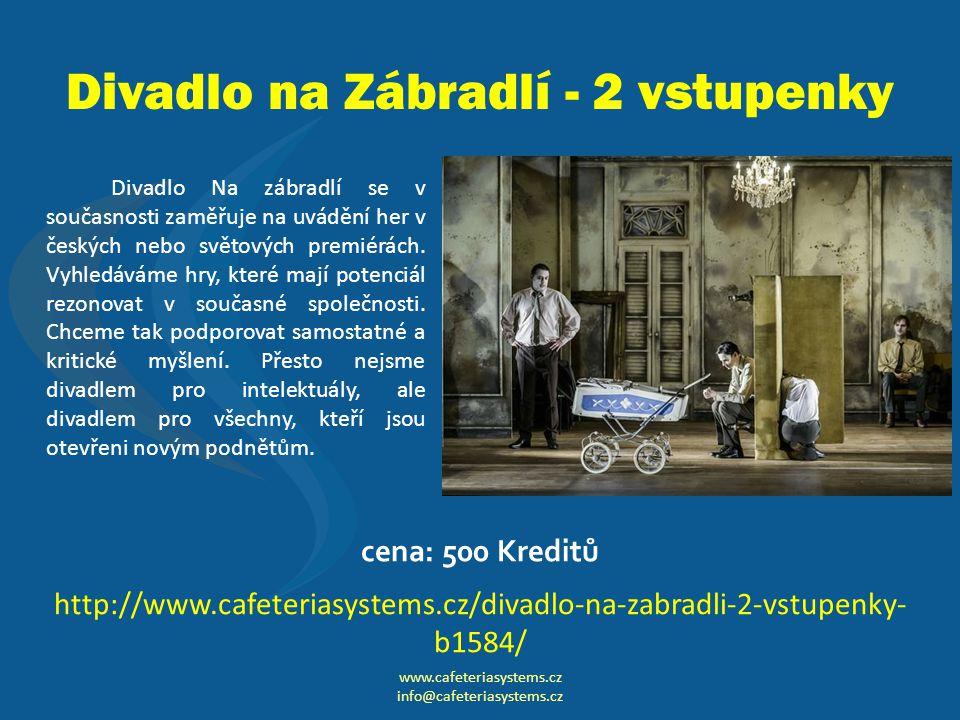 Divadlo na Zábradlí - 2 vstupenky