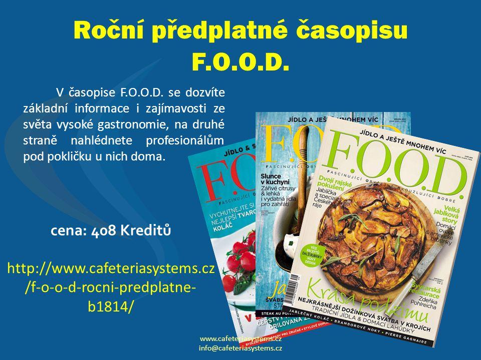 Roční předplatné časopisu F.O.O.D.