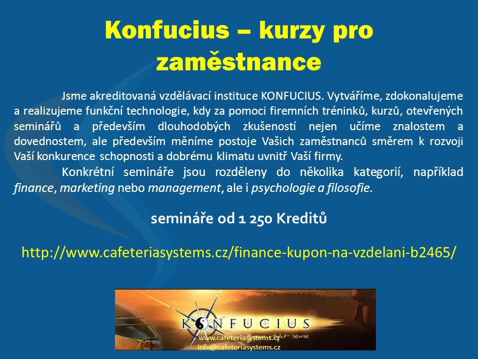 Konfucius – kurzy pro zaměstnance