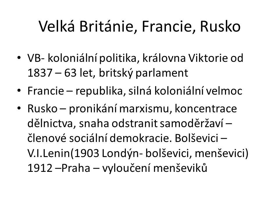 Velká Británie, Francie, Rusko