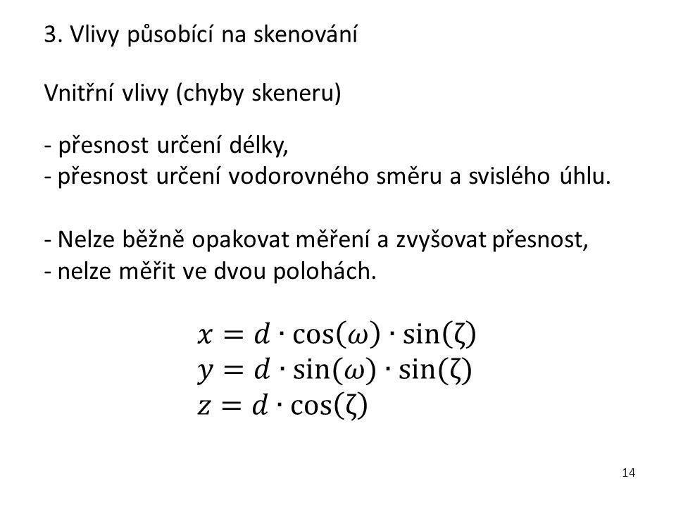 𝑥=𝑑∙ cos 𝜔 ∙ sin ζ 𝑦=𝑑∙sin(𝜔)∙sin(ζ) 𝑧=𝑑∙cos ζ