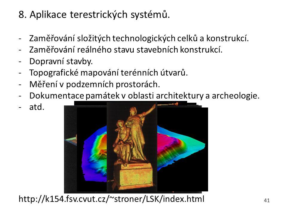 8. Aplikace terestrických systémů.
