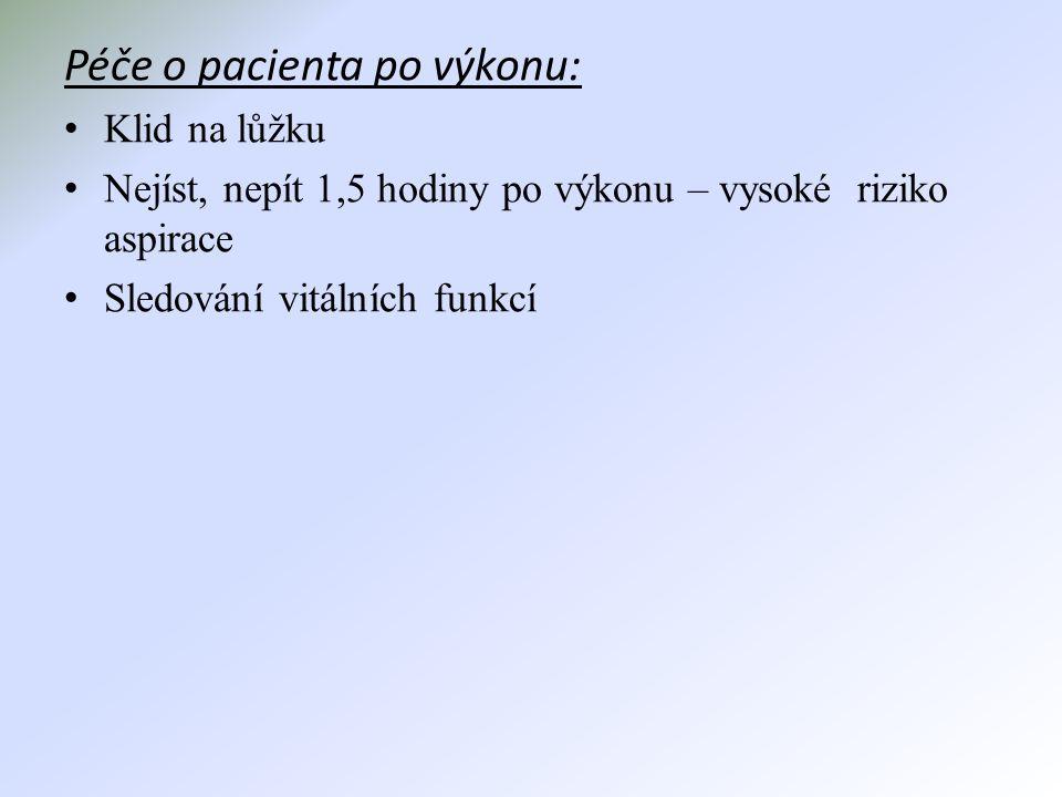 Péče o pacienta po výkonu: