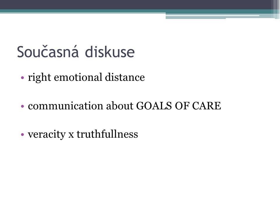 Současná diskuse right emotional distance