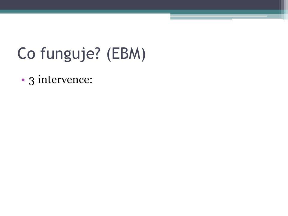 Co funguje (EBM) 3 intervence: