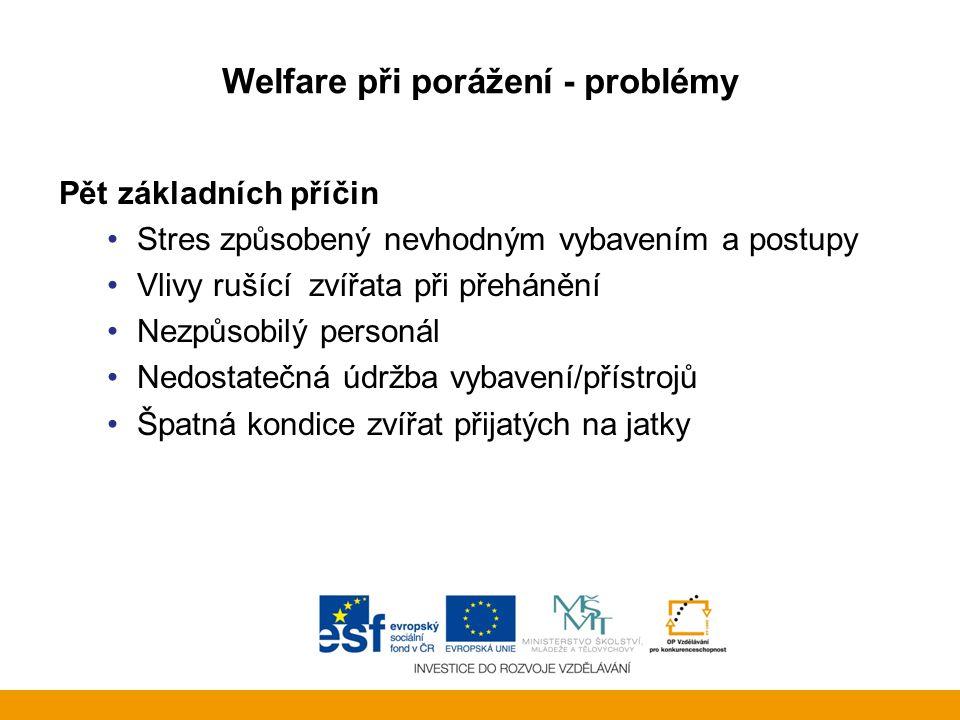 Welfare při porážení - problémy