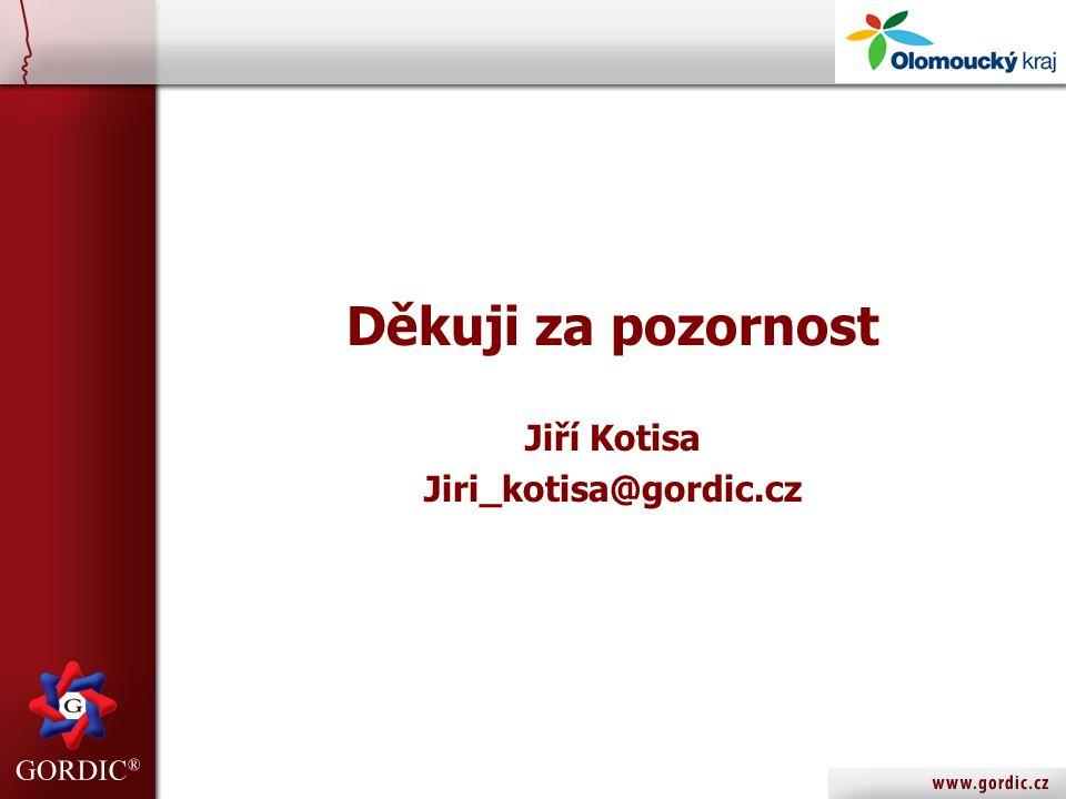 Děkuji za pozornost Jiří Kotisa Jiri_kotisa@gordic.cz