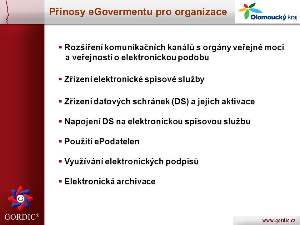 Přínosy eGovermentu pro organizace
