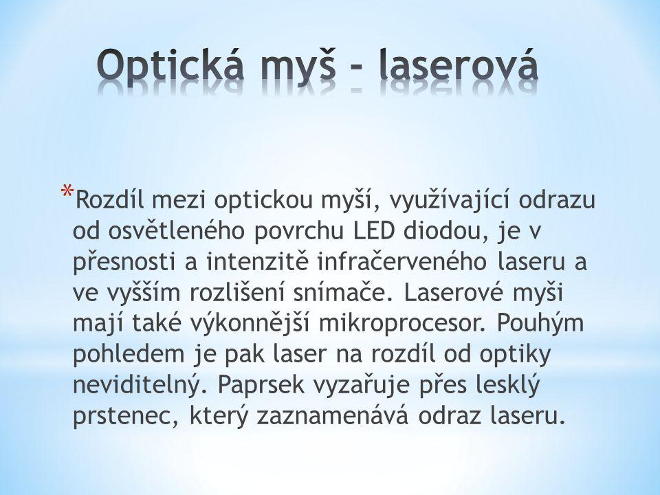 Optická myš - laserová
