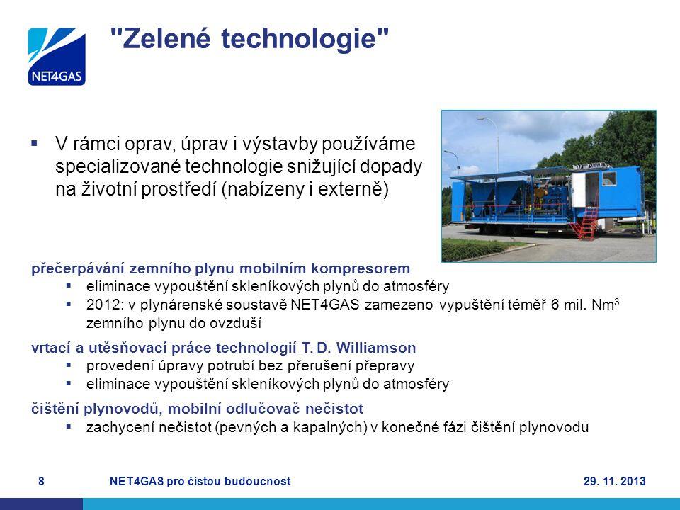 Zelené technologie V rámci oprav, úprav i výstavby používáme specializované technologie snižující dopady na životní prostředí (nabízeny i externě)
