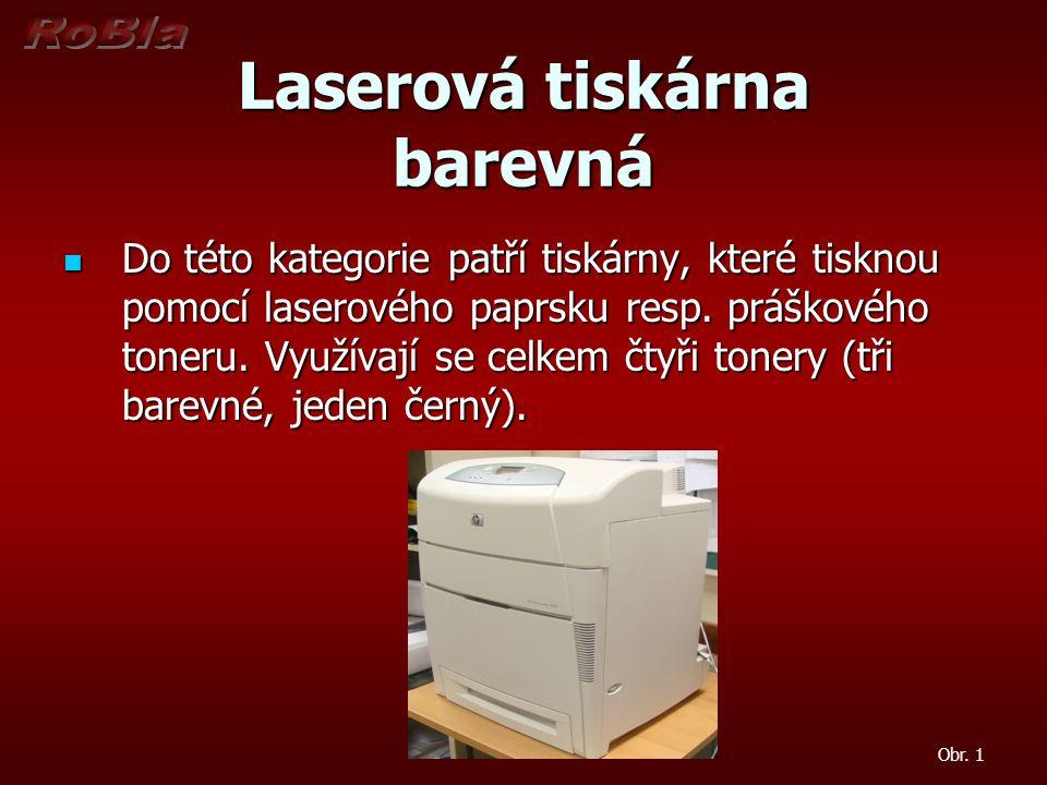 Laserová tiskárna barevná