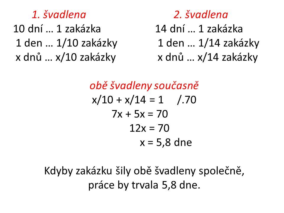 1. švadlena 2.