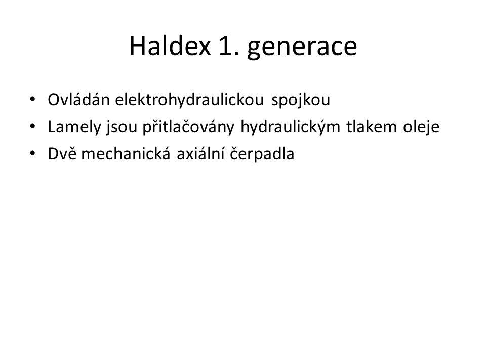 Haldex 1. generace Ovládán elektrohydraulickou spojkou