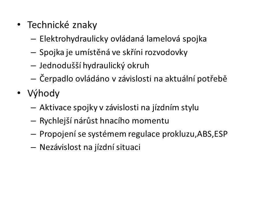 Technické znaky Výhody Elektrohydraulicky ovládaná lamelová spojka