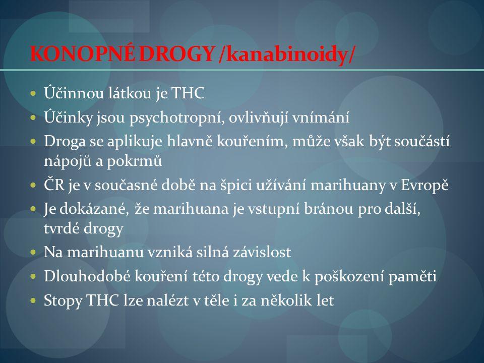 KONOPNÉ DROGY /kanabinoidy/