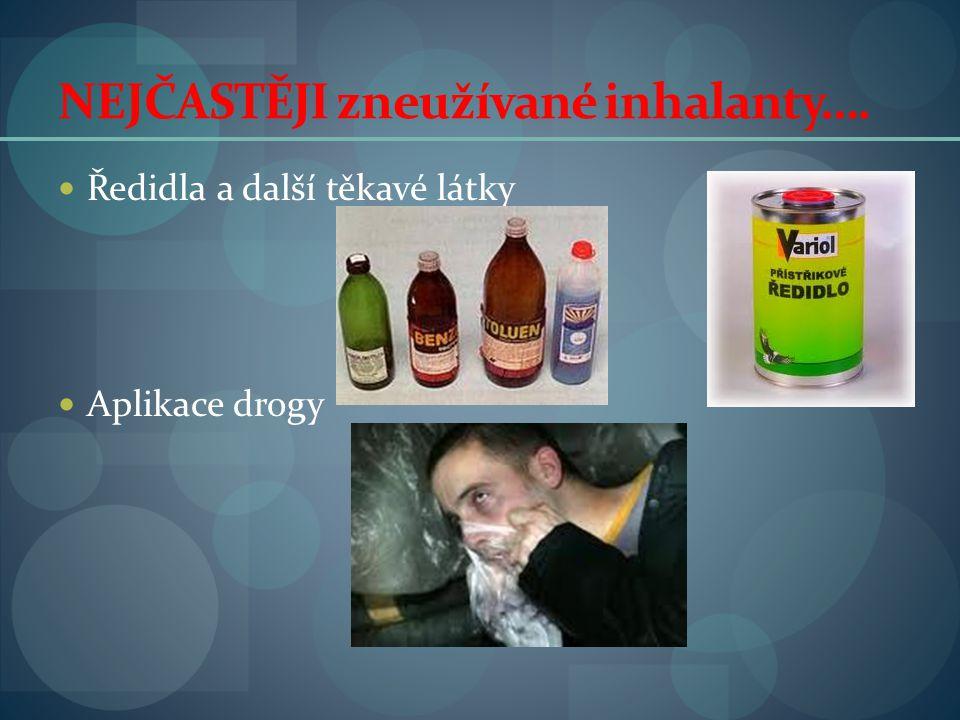 NEJČASTĚJI zneužívané inhalanty….