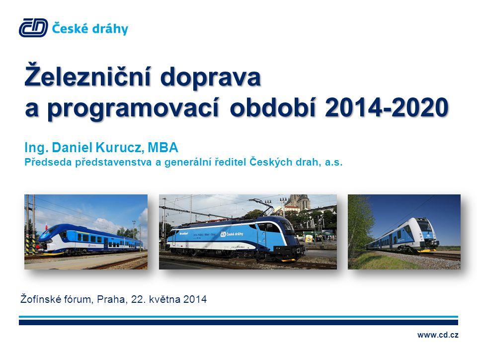 Železniční doprava a programovací období 2014-2020