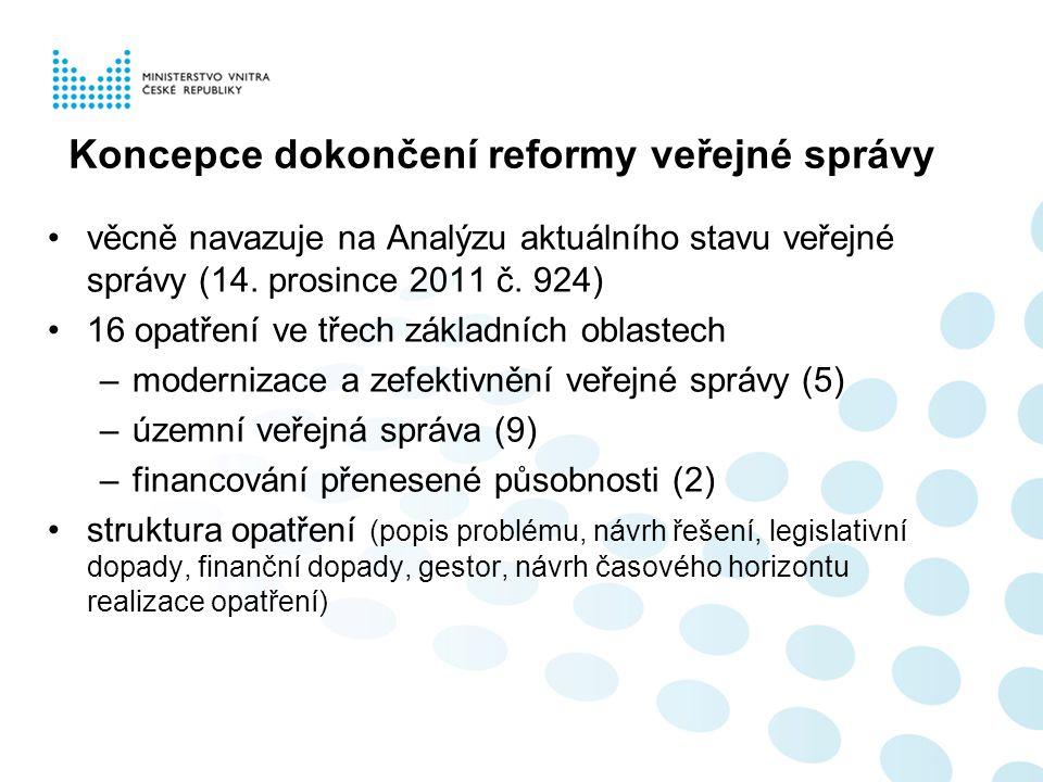 Koncepce dokončení reformy veřejné správy
