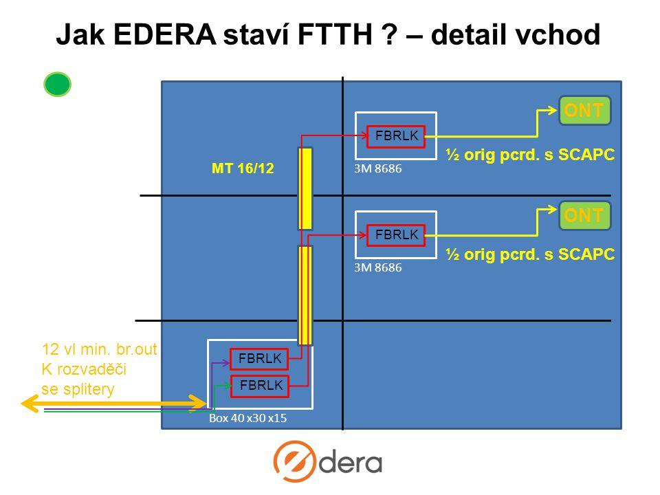 Jak EDERA staví FTTH – detail vchod