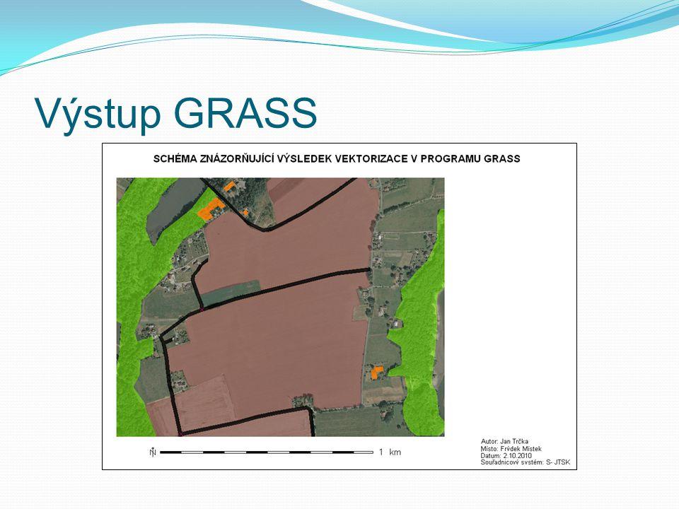 Výstup GRASS