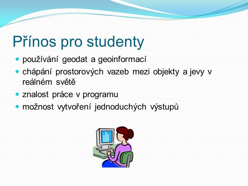 Přínos pro studenty používání geodat a geoinformací