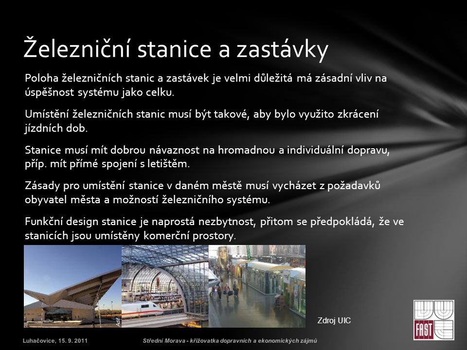 Železniční stanice a zastávky