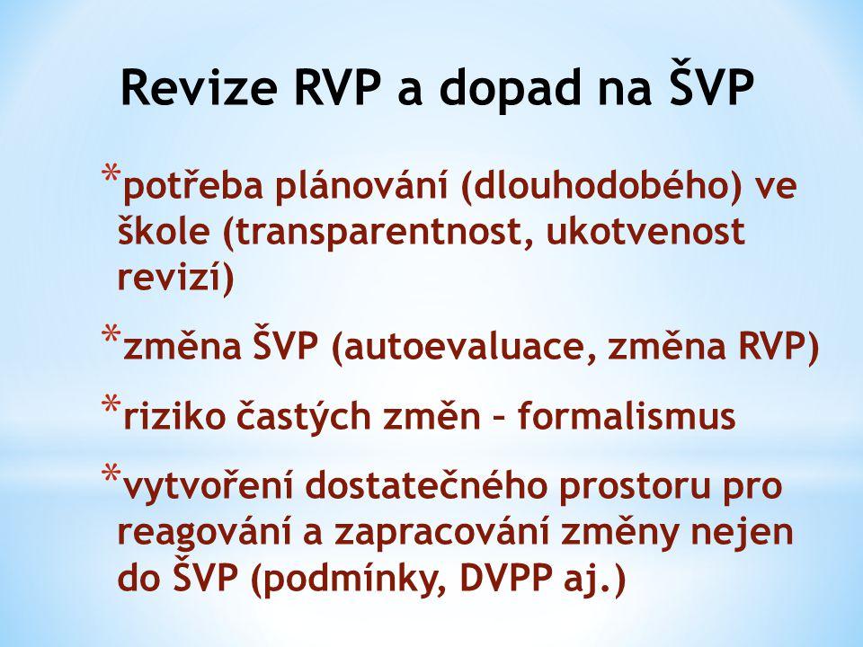 Revize RVP a dopad na ŠVP