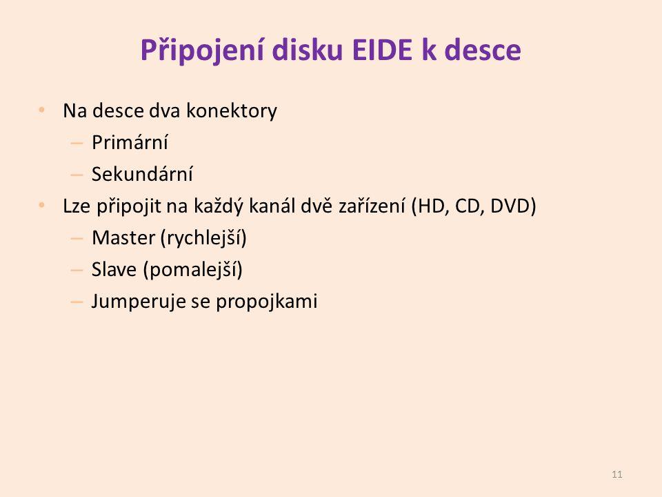 Připojení disku EIDE k desce