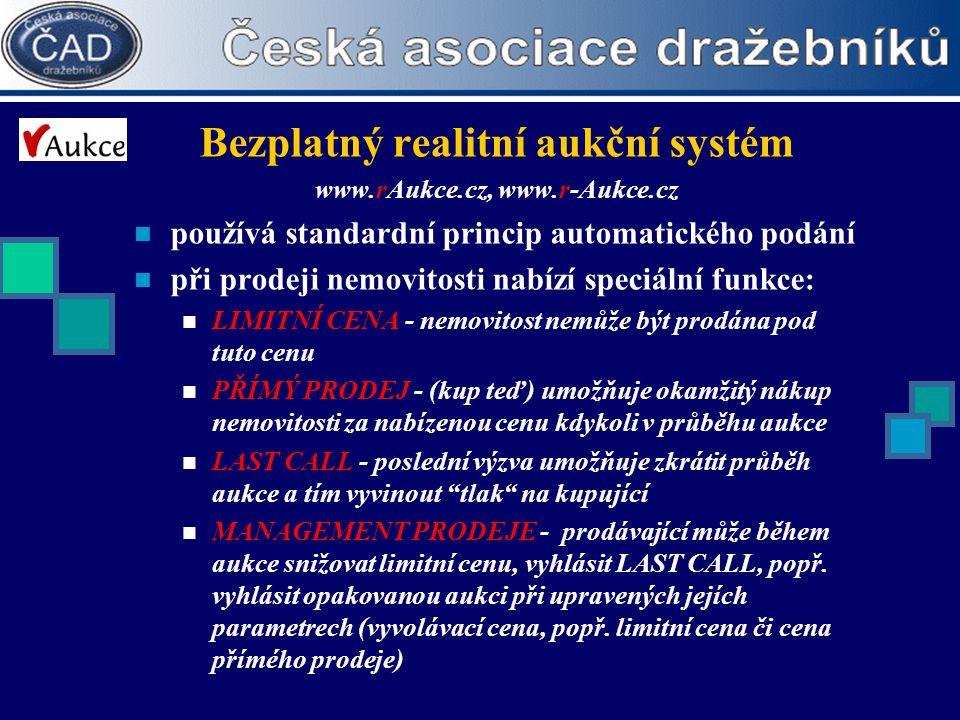 Bezplatný realitní aukční systém