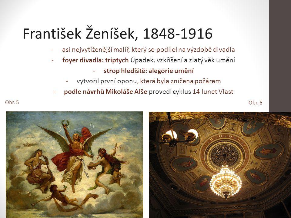 strop hlediště: alegorie umění