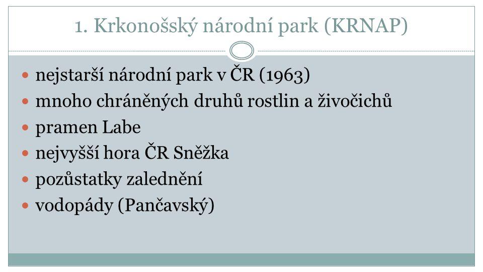 1. Krkonošský národní park (KRNAP)