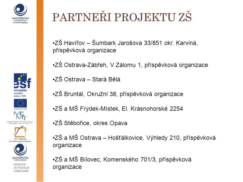 partneři projektu zš ZŠ Havířov – Šumbark Jarošova 33/851 okr. Karviná, příspěvková organizace.