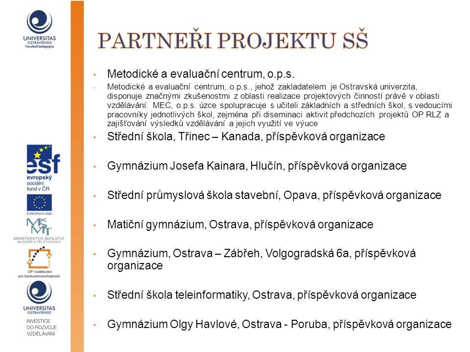 partneři projektu Sš Metodické a evaluační centrum, o.p.s.
