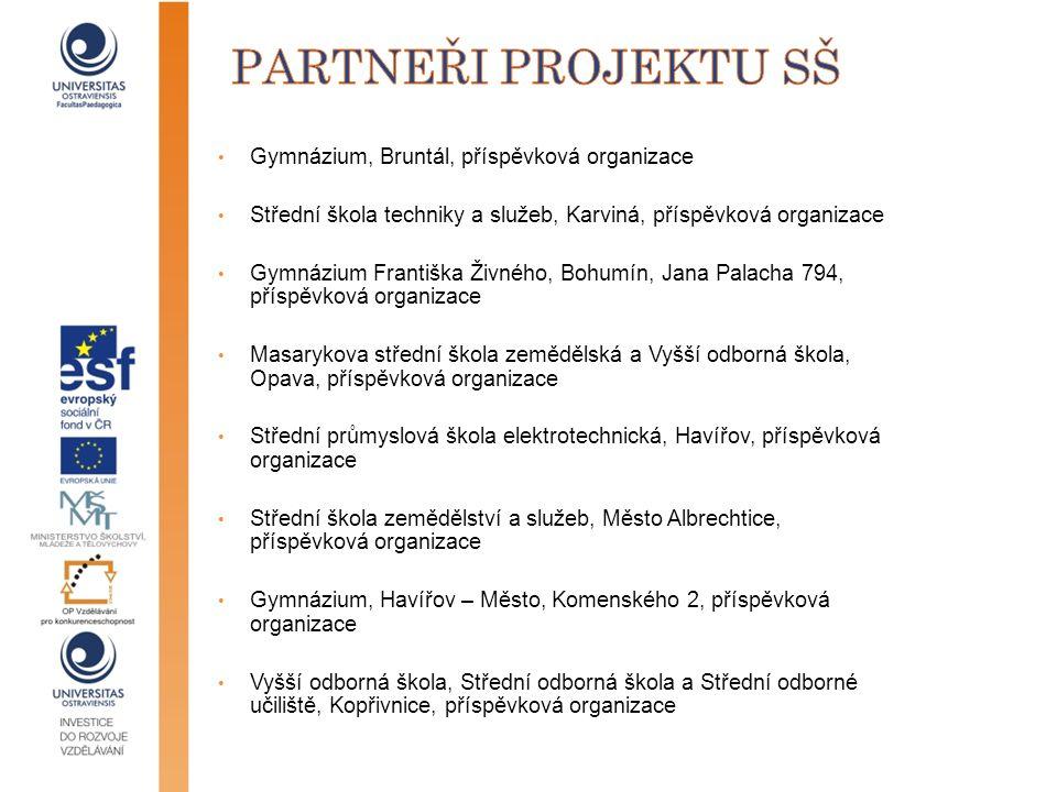 partneři projektu Sš Gymnázium, Bruntál, příspěvková organizace