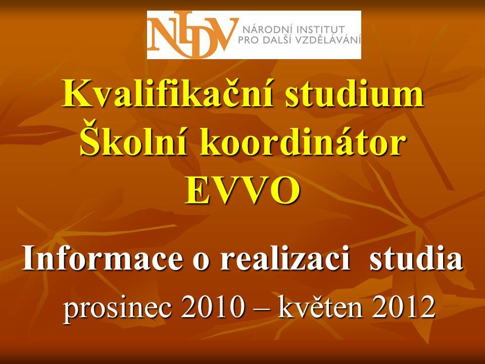 Kvalifikační studium Školní koordinátor EVVO