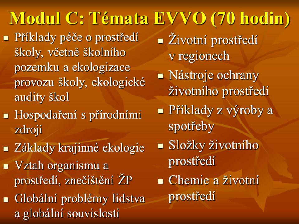 Modul C: Témata EVVO (70 hodin)