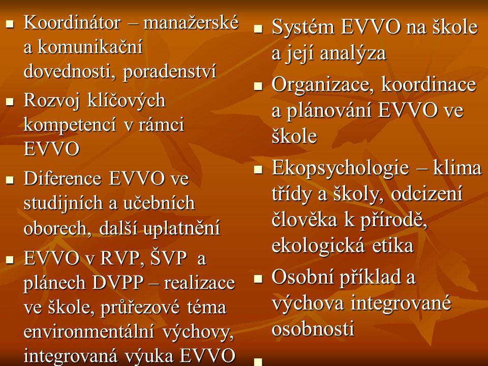 Systém EVVO na škole a její analýza