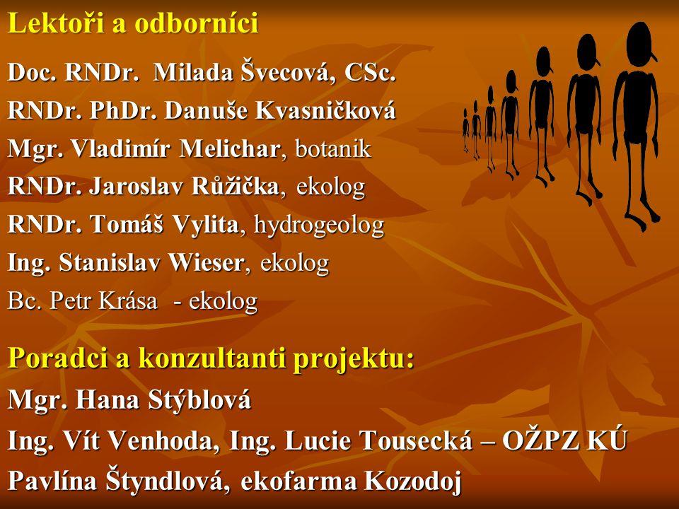 Poradci a konzultanti projektu: