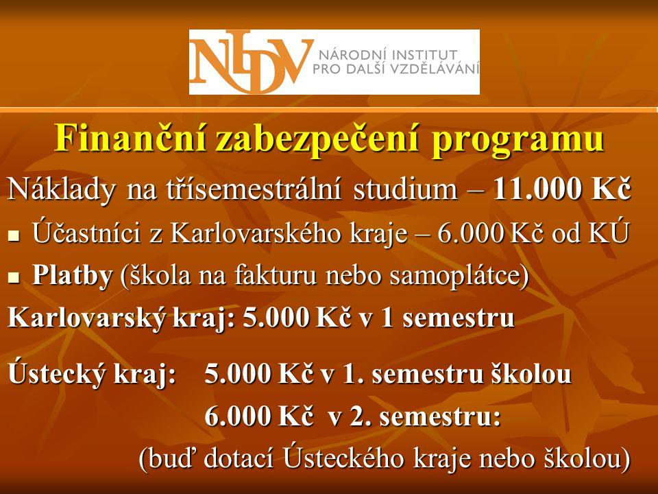 Finanční zabezpečení programu