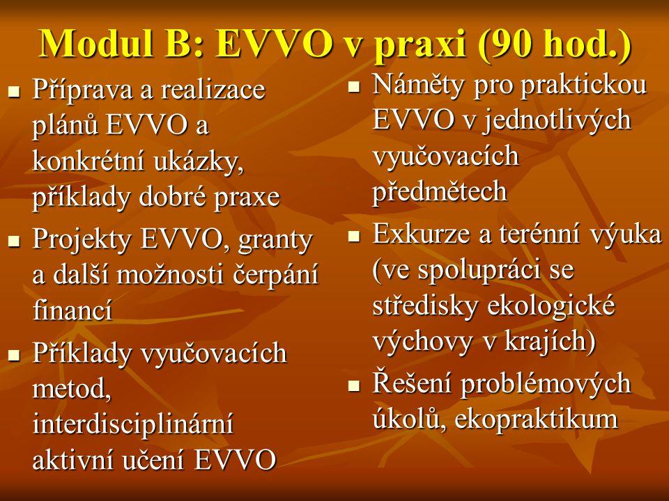Modul B: EVVO v praxi (90 hod.)