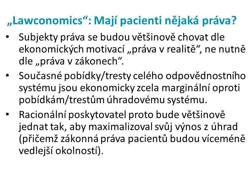 """""""Lawconomics : Mají pacienti nějaká práva"""