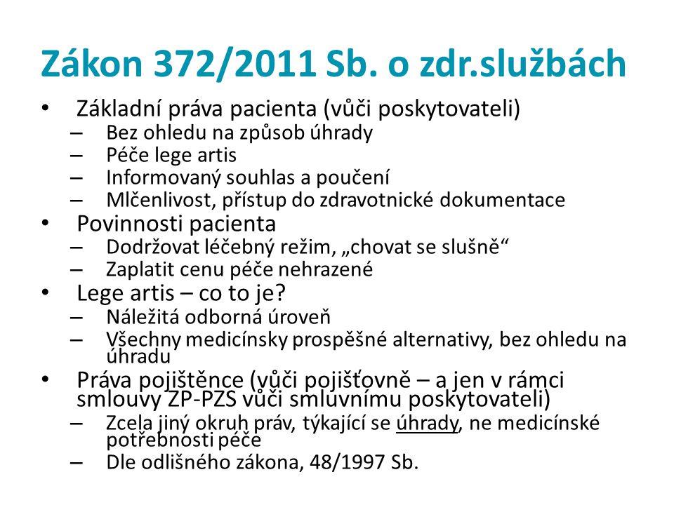 Zákon 372/2011 Sb. o zdr.službách