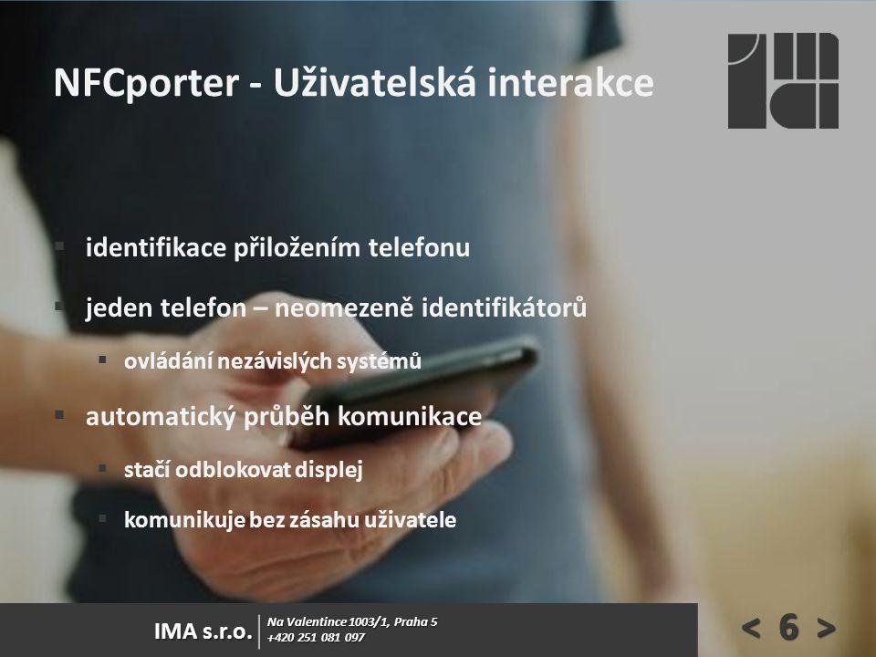 NFCporter - Uživatelská interakce