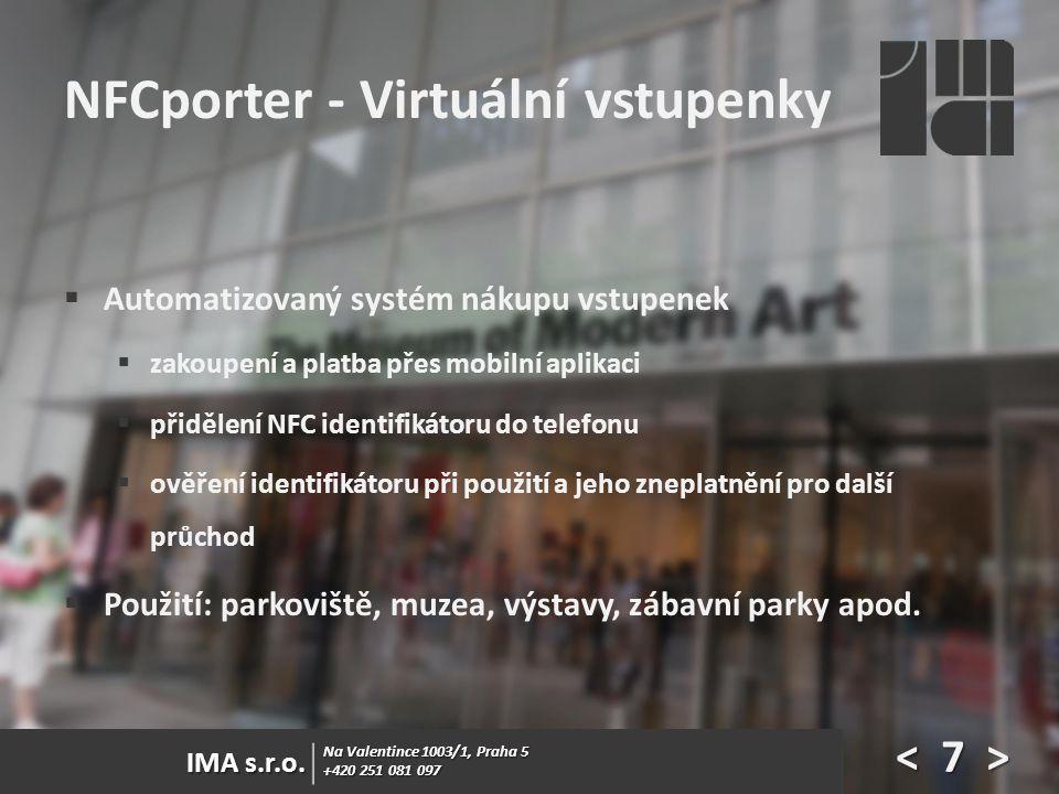 NFCporter - Virtuální vstupenky